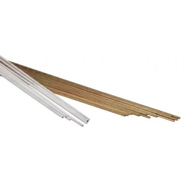 Magnesium Bronze Brazing Rod - 3.2mm Flux Coated (Handy Pack of 10 Rods)