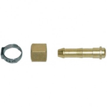 Weldclass Crimp-On Hose Connector Kit for Oxy,Acetylene and LPG Welding Equipment - Suits 10mm Hose RH Oxy - 10 Pack