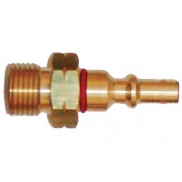Weldclass Acetylene/LPG Quick Coupling - Pin Only, Regulator Mount (P4-RQPF)