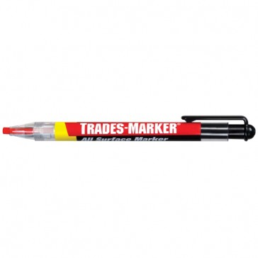 Markal Orange All-Metal and Plastic All-Weather Trades-Marker Pen with 5 Refills (09600)