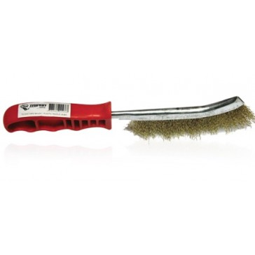 Taipan 1-Row Brass-Coated Steel Hand Brush (TO-3202) - 20 Pack