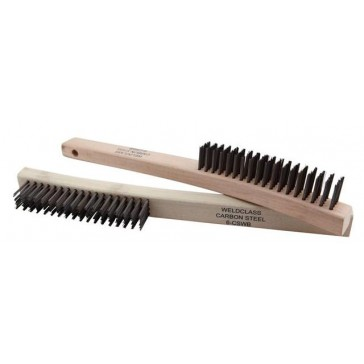 Taipan 4-Row Wooden-Handle Stainless Steel Hand Brush (TO-3206) - 12 PACK