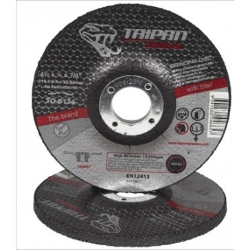 Taipan Original 'HD' General Purpose Angle Grinding Disc -115mm x 6.5mm (TO-6134) -100 PACK