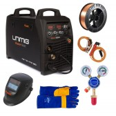 UniMig Razor MTS 250 MIG-TIG-MMA Inverter Welder Package