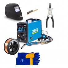 Cigweld Weldskill 185 3-in-1 MIG-TIG-STICK Inverter Bundle - inc Wire/Helmet/Gloves/Pliers