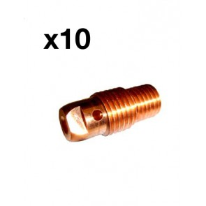 1.0mm Collet Body Suit 17,18 & 26 Series TIG Torch (10N30)-Pack of 10