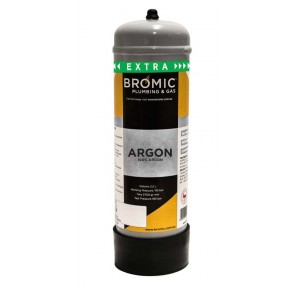 Bromic 2.2Lt Pure Argon Disposable Gas Bottle (Approx 540L of Gas)