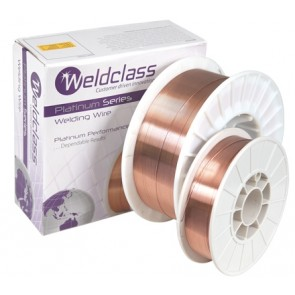 Weldclass ER70S-6 XT-Platinum Mild Steel MIG Welding Wire - 0.8mm x 15KG Spool