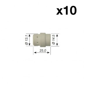 Ceramic Gas Diffuser Insulator for SB24 MIG Binzel Style Torch (PCGD24) 10 x 2 Pack (20 diffusers)