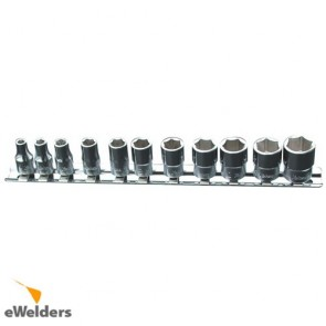 Koken Socket Set On Rail 1/4Dr 4-14Mm 11Pc(6Pt)