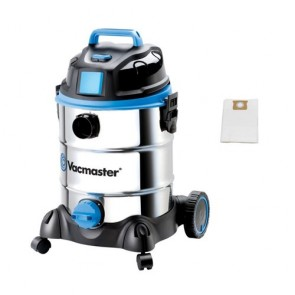 Vacmaster Vacuum Wet / Dry 30 Ltr 1500W  Motor Stainless Tank Plus 5 Pack Dust Bags