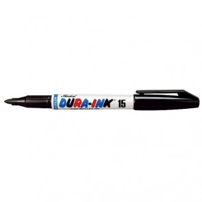 Markal Black Dura-Ink 15 All-Surface Fine Ink Marker - 1.5mm Tip - Pack of 72 (96023)