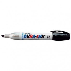 Markal Black Dura-Ink 25 Chisel Tip Ink Marker - 1.5mm Tip - Pack of 48 (96223)