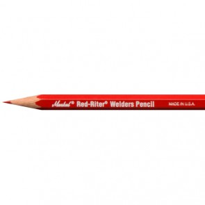 Markal All-Metal High Performance Red Industrial Pencil - 12 Pack (096100)