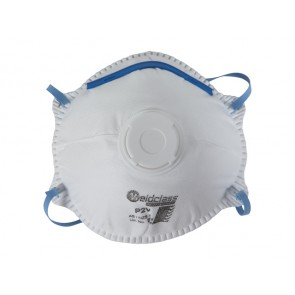 Weldclass Promax P2 Series Disposable Respirator (Cupped with Valve) - 10 Pack