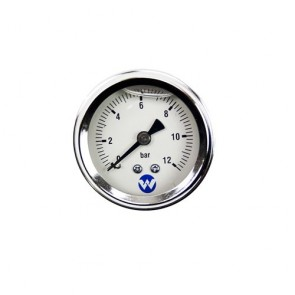 White International Whi-12Barpg - Pump Pressure Gauge 12 Bar Liquid Filled