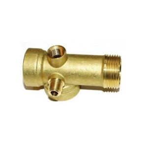 "DAB Dab-5Wt - Pump Five Way Tee 0.25""X0.25""X1""X1""X1"" Bronze"