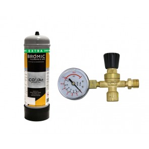 Bromic 2.2Lt  Argon/Co2  Disposable Wedling Gas Bottle (Approx 540L of Gas) - With Regulator