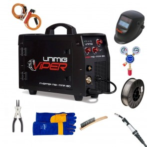 UniMig Viper 150 MIG-Stick Gas-Gasless Inverter Welder Bundle