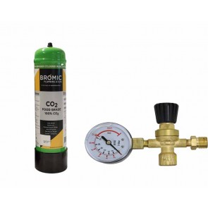 Bromic 2.2Lt  Co2  Disposable Welding Gas Bottle (Approx 540L of Gas) - With Regulator