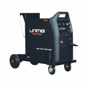 UniMig Wheel-mount MIG-TIG-Arc 250A Inverter - Upgraded Model 4-Wheel Geared Drive (KUMJR250K-SG)