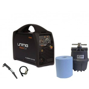 UniMig Razor Cut 45 Inverter Plasma Cutter with Compressed Air Filter (KUPJRRW45)