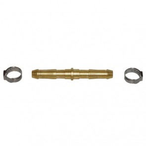 Weldclass Crimp-On Gas Hose Joiner Kit with Brass Double-End Barb to suit 10mm hose (P4-DEBK10)