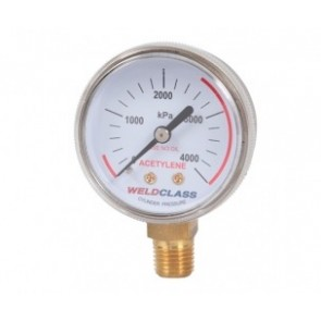 High Pressure (0-4,000kpa) Acetylene Gauge for - 1,4 Npt (P4-HPACG)