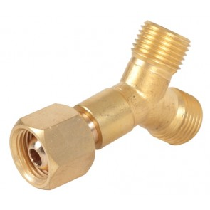 Weldclass Brass Y-Piece Welding Hose Joiner and Coupler - LH for Oxy,Acetylene and LPG (P4-R215)