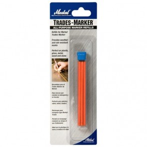 Orange Refill Pack for Markal Trades-Marker Pen (09600) - Pack of 6