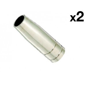 Conical Nozzle suit UniMig SB15 Binzel Style MIG Torch (PGN15CON) 2-Pack