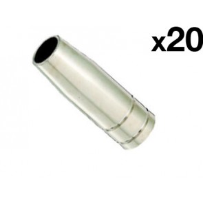Conical Nozzle suit UniMig SB15 Binzel Style MIG Torch (PGN15CON) 20-Pack