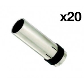 Cylindrical Nozzle suit UniMig SB24 Binzel Style MIG Torch (PGN24CYL) 20-Pack