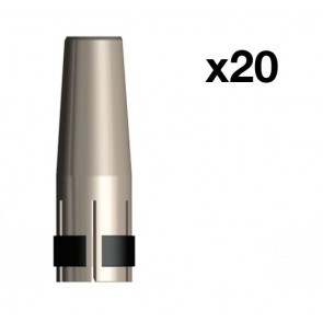 Tapered Nozzle suit UniMig SB24 Binzel Style MIG Torch (PGN24TAP) 20-Pack
