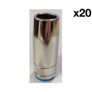 Conical Nozzle suit UniMig SB25 Binzel Style MIG Torch (PGN25CON) 20-Pack