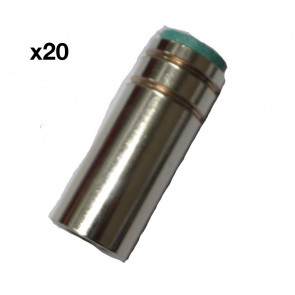 Cylindrical Nozzle suit UniMig SB25 Binzel Style MIG Torch (PGN25CYL) 20-Pack