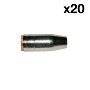 Tapered Nozzle suit UniMig SB25 Binzel Style MIG Torch (PGN25TAP) 20-Pack