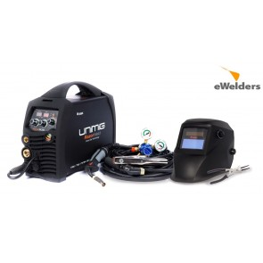 UniMig 205 RAZORWELD Smart Set Inverter MIG Welder with TIG-MMA (3-in-1)  (KUMJRRW205SS) - Bonus Helmet