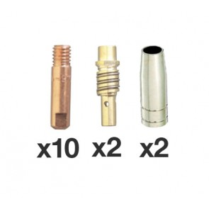 SB15 / MB15 Binzel Style MIG Torch 14 Piece Consumables Pack
