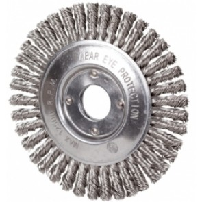 Taipan 125mm X 6mm Twist-Knot Stainless-Steel Pipeline Wheel Brush