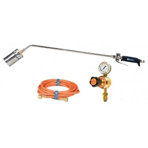 800mm LPG Torch with 60mm Tip + Regulator + 10M Hose